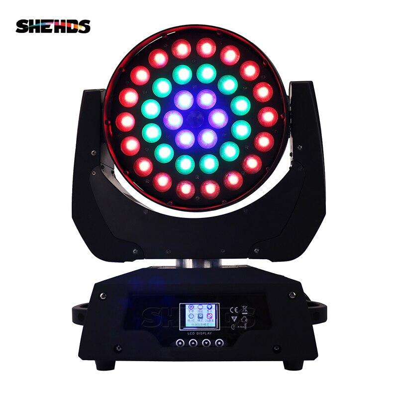 Livraison rapide LED lavage Zoom mobile tête lumière 36x18 W RGBWA + UV 6IN1 clé conseil/boucle contrôle effet bon pour DJ Disco KTVParty Bar