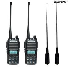 2 шт./компл. Портативный двух-передающая радиоустановка UV 82 Dual PTT радио BaoFeng UV-82 двухдиапазонный двухстороннее радио приемопередатчик+ 771 антенна