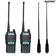 2шт/набор портативный двухстороннее Радио УФ-82 двойной PTT на рации Baofeng УФ-82 двухдиапазонный двухстороннее Радио трансивер + антенна длинный мягкий 771