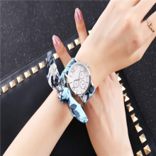 Casual Fashion Holiday Cotton Ribbon Watch Watches Silver Color Women 2019 Wrist for