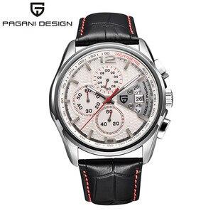 Image 2 - 男性クォーツ腕時計パガーニデザインの高級ブランドファッション時限マルチファンクションダイブ革クォーツ時計レロジオmasculino