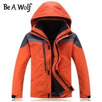 Be A Wolf Winter Hiking Jacket Women Men Outdoor Camping Skiing Hunting Clothes Fishing Heated Waterproof