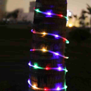 Image 3 - 10M 5M 100/50 LED batterie Seil Rohr Lichterketten Outdoor Garten Weihnachten Girlande Led Globus führte Streifen Fee licht Wasserdicht