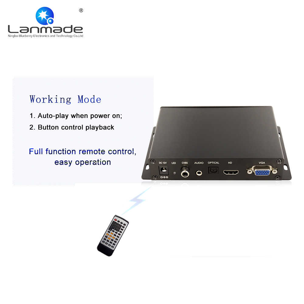 Metal shell auto loop play advertising usb player sd card usb media player  for tv definition media player