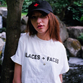 PLACES+FACES print tee shirt femme large size loose cotton camisetas mujer black white casual women t shirt S-2XL