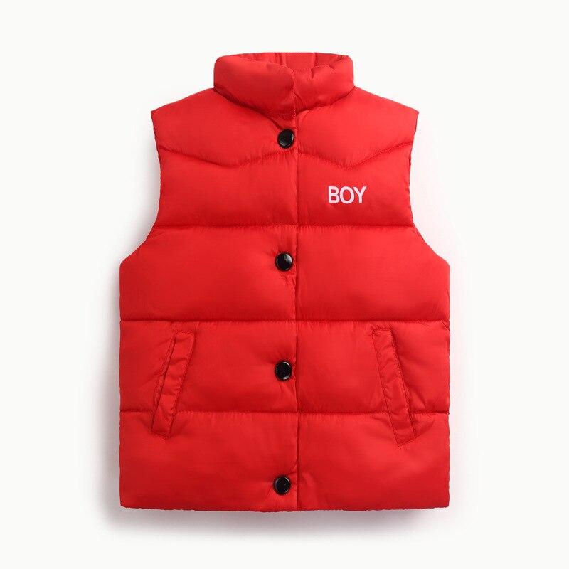 Autumn Winter 2017 Boys Girls Vest Jacket light white duck down vest Kid Cotton Waistcoat baby Vest Solid Single Breasted Liner