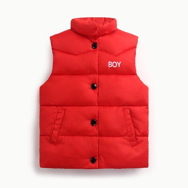 Mùa thu Mùa Đông 2017 Chàng Trai Cô Gái Vest Jacket ánh sáng trắng vịt xuống vest Kid Bông Áo Ghi Lê bé Vest Đơn Cứng, Ngực lót