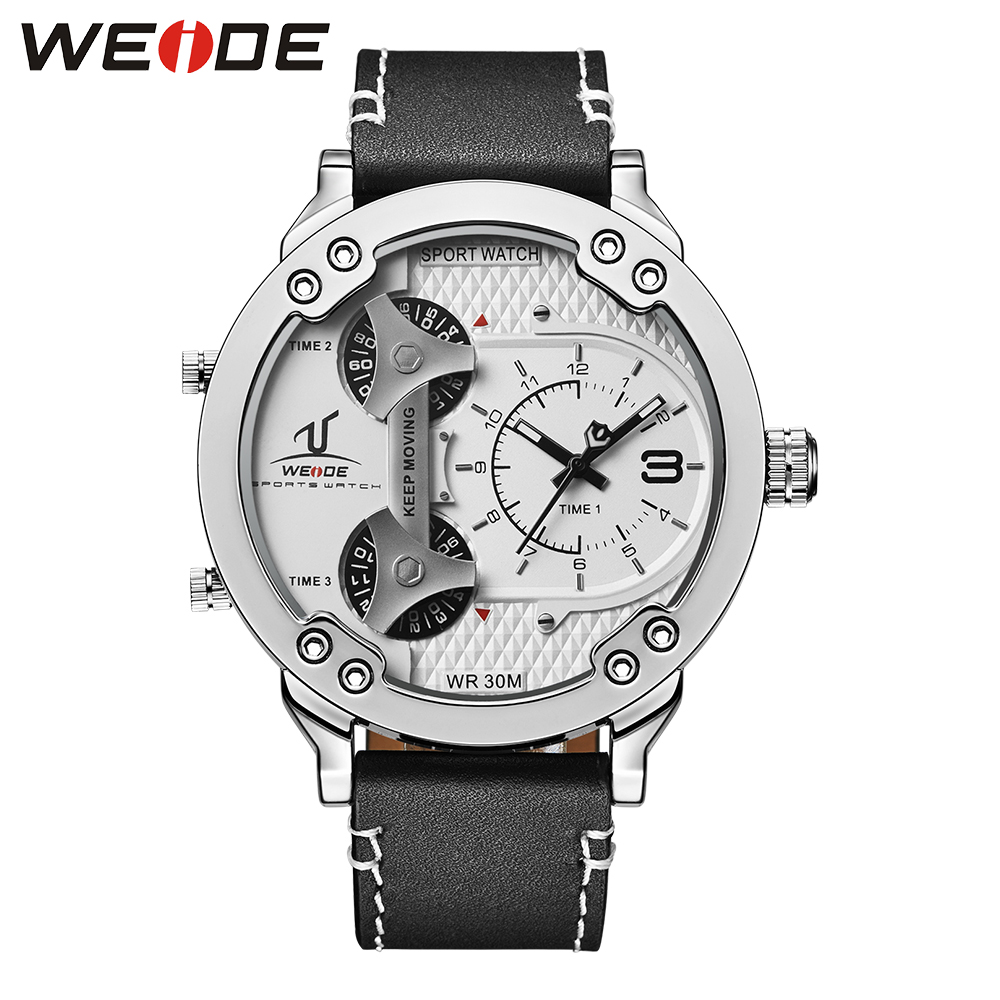 WEIDE Men Sports Watches Analog Display Quartz 3ATM Waterproof Fashion Stlye Military Watch Relogio Male Clock Gifts / UV1506