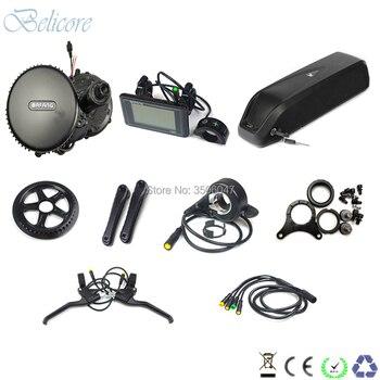 36v 500w central motor kits bafang bbs02 36v 500 watt mid drive motor kit with 36v 13ah hailong down tube e-bike battery