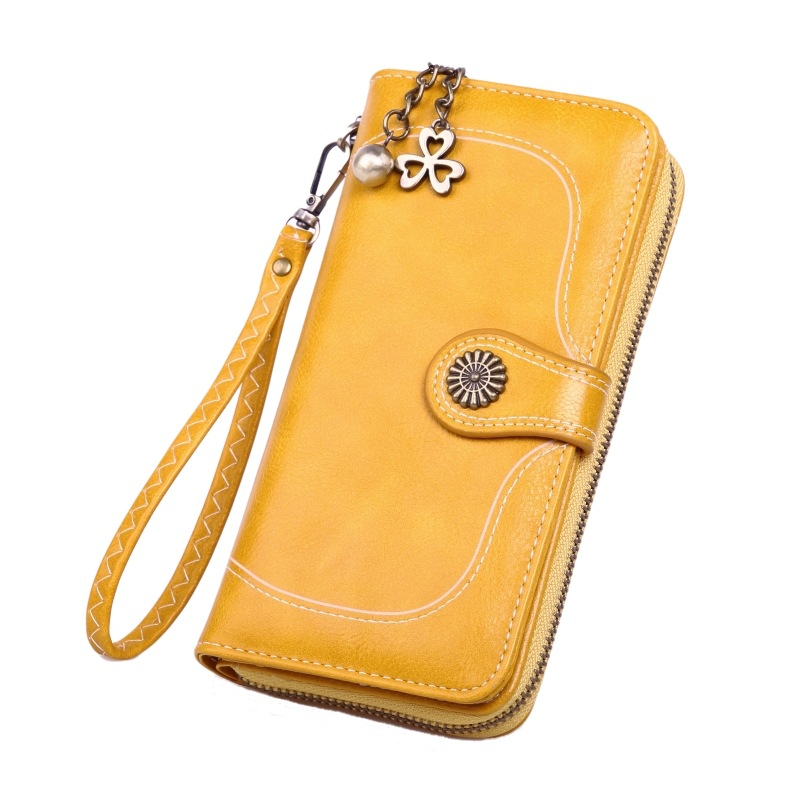 Vintage Flower Wallets For Women Long Purse High Capacity Female Card Holder Wallets Ladies Zipper Coin Purse