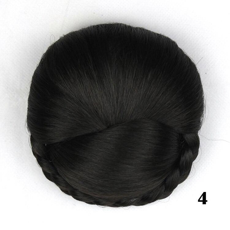 1pcs Hair Pieces Fast Donut Bun Extension Wedding Chignons Synthetic