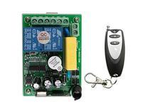 Latest AC 220V 2 CH 2CH Remote Control Garage Door RF Wireless Remote Control Switch System