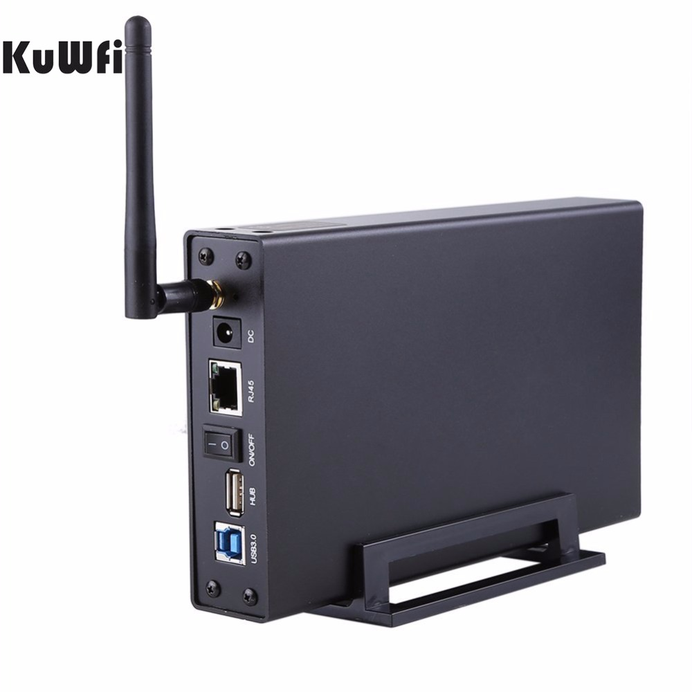 USB3.0 Wi-Fi Streaming Wireless Hard Drive Case 3.5External HDD Enclosure Wireless Router&File Server&AP&USB WiFi Storage RJ45