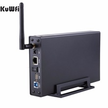 USB3.0 Wi-Fi Streaming Wireless Hard Drive Case 3.5″External HDD Enclosure Wireless Router&File Server&AP&USB WiFi Storage RJ45