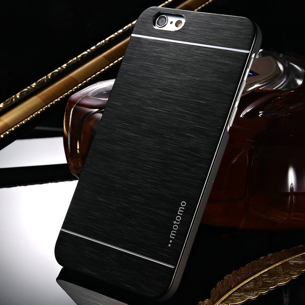 Brushed Aluminum Case for iPhone 6 Plus 5.5 Inch Phone Accessories Metal  Plastic Back Cover Case For iPhone 6 Plus 6 da63569cc2