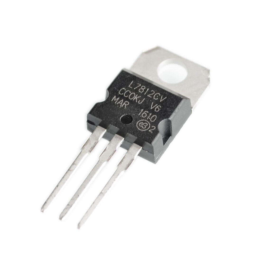 2x L7810CV 7810 Estabilizador Regulador de Voltaje Positivo IC TO-220
