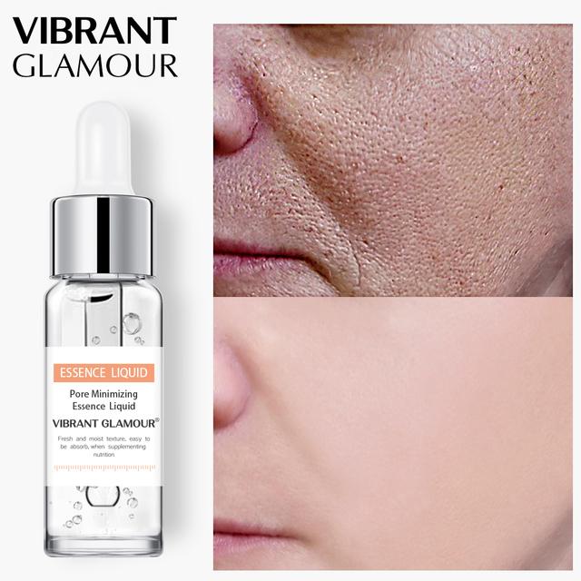 VIBRANT GLAMOUR Shrink Pores Face Serum Whitening Hyaluronic Acid Liquid Moisturizing Anti Wrinkle Face Essence Plant Skin Care