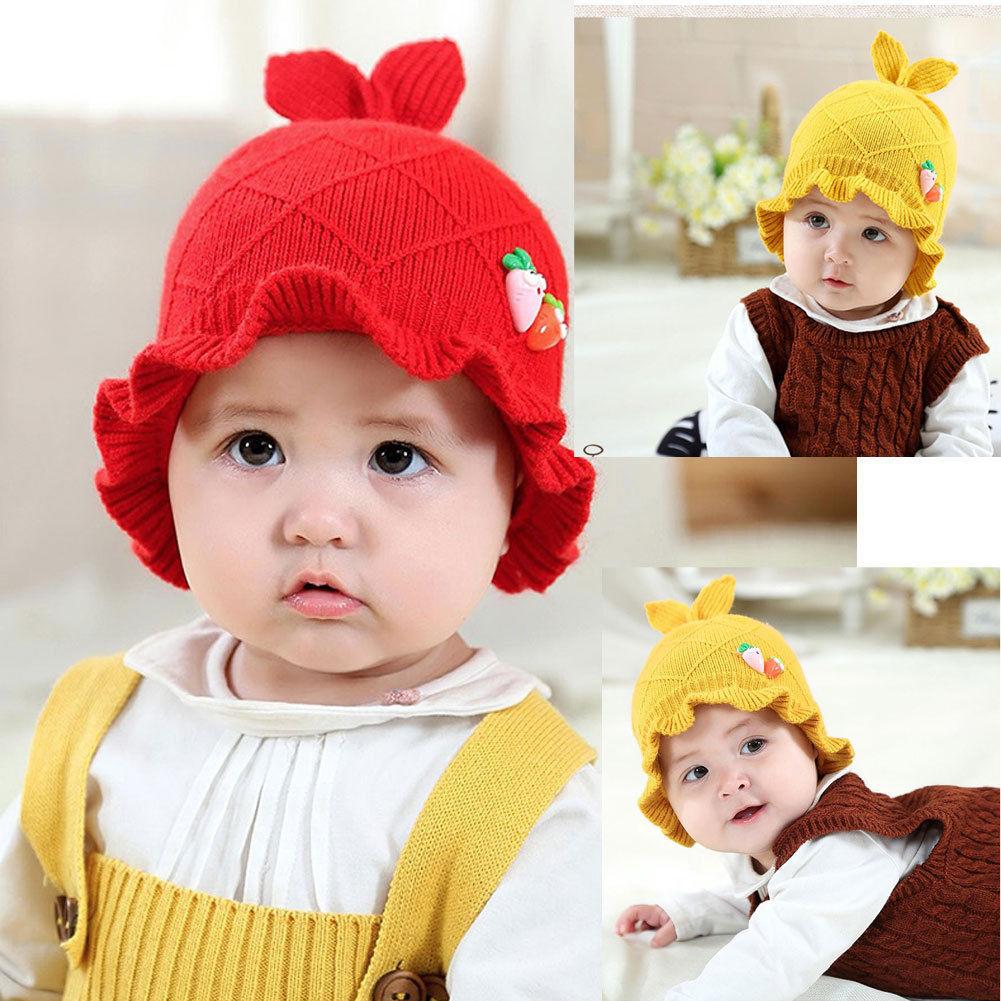 cute newborn baby hats toddler kids girls boys caps with