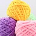 Lenço colorido Corante Mão-de malha de Fios Para tricô Mão Fios de Lã Grossa de Algodão Macio Leite Fio total de 220 gramas frete Grátis