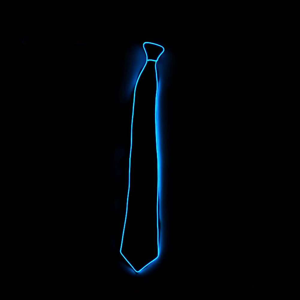 Fashion Style Fashion Men Light Up Led Flashing Striped Glowing El Tie Luminous Necktie Club Cosplay El Tie Excellent (In) Quality