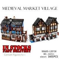 Lepin Castle 16011 1601Pcs Medieval Market Village Building Blcoks Bricks Toys For ChildrenGifts CompatibleGifts 10193