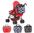 Free shipping Fashion Baby Diaper Bag Large Capacity Mummy Bag Multi-function Nappy Bags Baby Stroller Bag