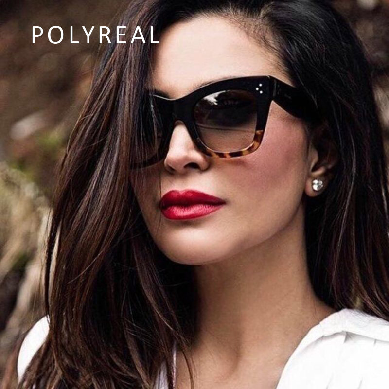 POLYREAL 2017 New Fashion Vintage Oversized Sunglasses Women Men Brand Designer Big Frame Sun Glasses Shades