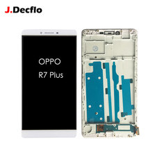 Replacement For OPPO R7 Plus LCD Display 100% Tested Touch Screen With Frame Digitizer Assembly Factory OEM 6.0 inch White
