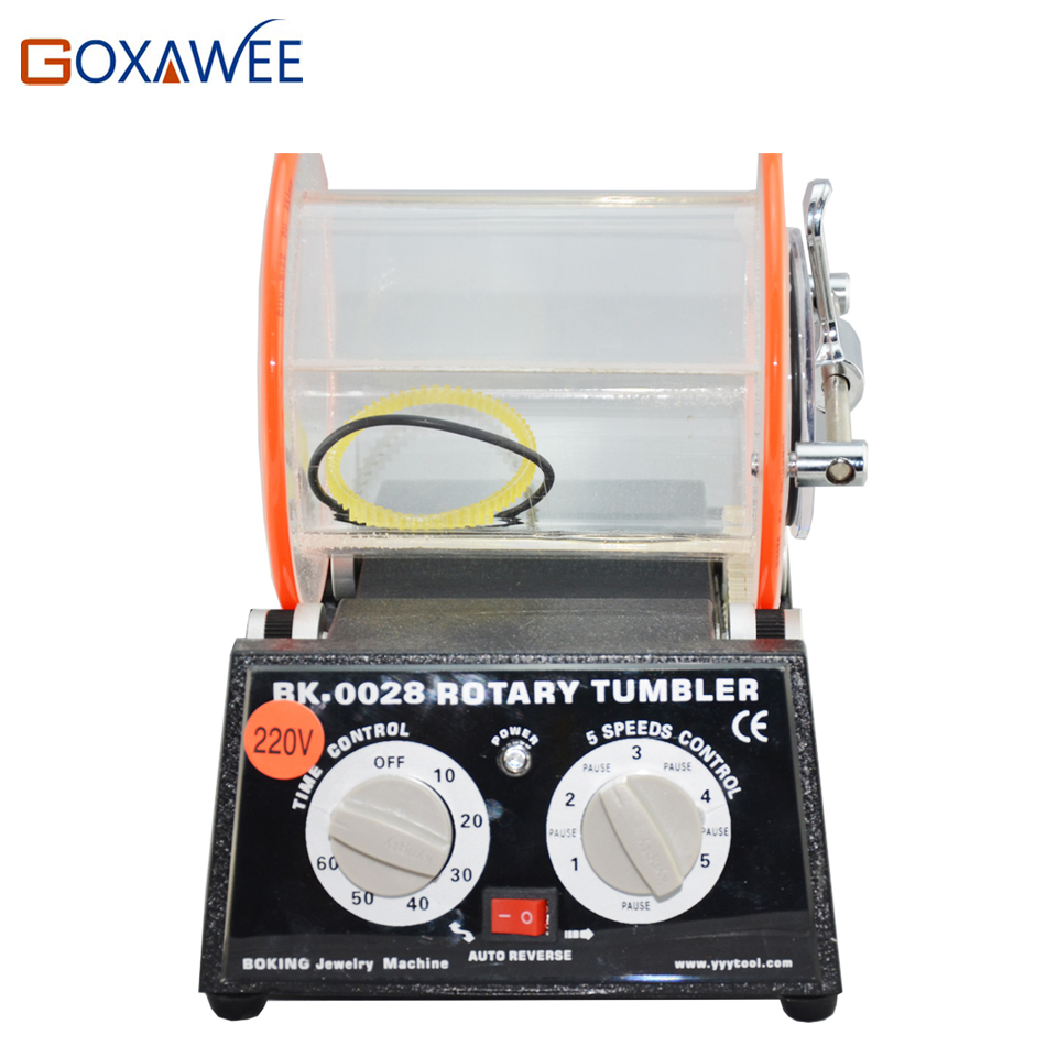 GOXAWEE Jewelry Polishing Machine Tools 3kg Capacity Rotary Tumbler Rock Tumbler Polishing Machine Jewelry Tools and Equipment goxawee 1pc buff polishing compound metal jewelry polishing compound abrasive paste abrasive tools blue white gray yellow green