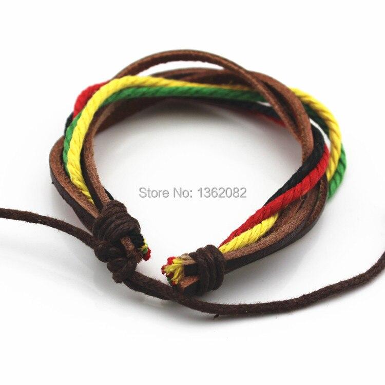 ; 12 шт. унисекс Lucky ручной Surfer плетеные веревочные кожаный браслет регулируемый провод браслет MB90