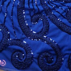Image 3 - רקמת נצנצים פאן פרחוני סקסי למעלה בתוספת גודל שחור אדום כחול בציר מזדמן מועדון קצר זול קוקטייל שמלות המפלגה שמלות