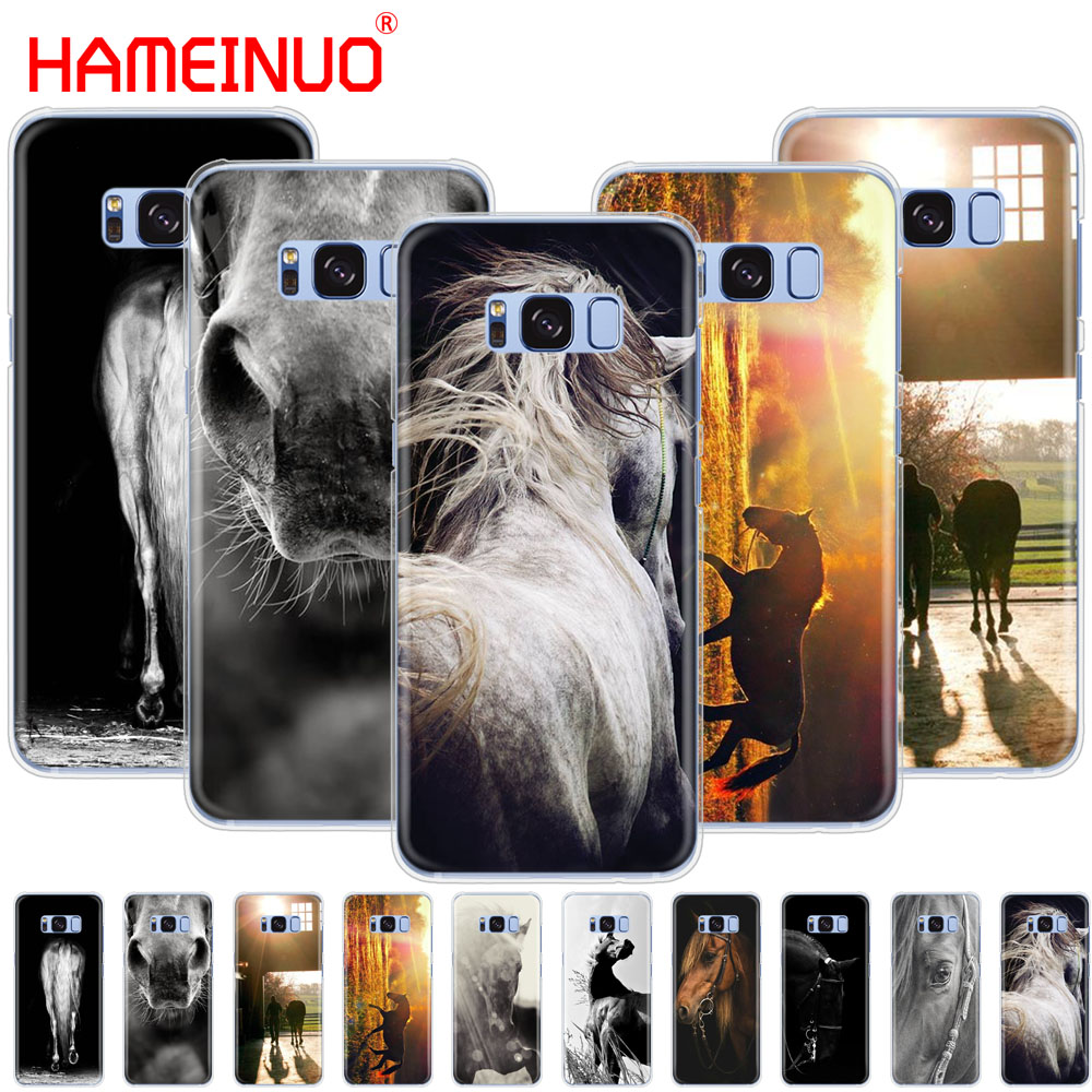 HAMEINUO Sunset and horse cell phone case cover for Samsung Galaxy E5 E7 Note 3,4,5 8 ON5 ON7 grand G530 2016