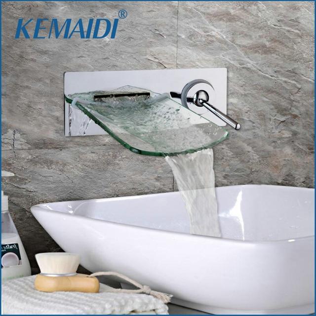 Aliexpress.com : Buy KEMAIDI Wall Mounted Waterfall Glass Spout ...
