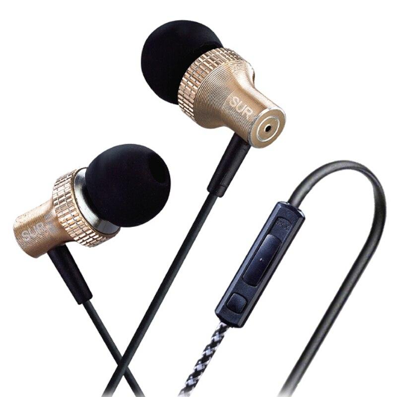 Brand New Original JBM SUR-MJ1025 In Ear Earphone Super Bass Metal Stereo In-ear Headphones Headset Auriculars With Microphone jbm e 611 3 5mm plug in ear earphone deep pink 120cm cable
