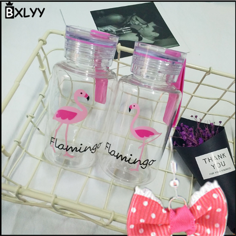 BXLYY Plastic Pink Flamingo Water Bottle 300ml Portable Sports Shaker Home Decor Accessories Bottle Gifts for The New Year.8z Islamabad