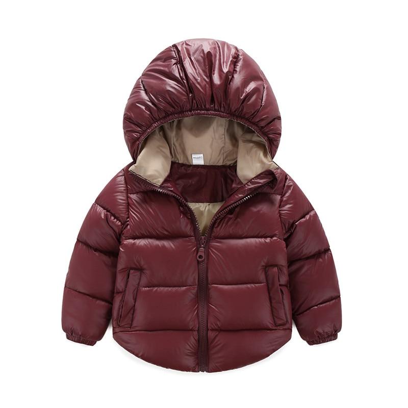 7a0e4a1e3 Boys Girls Winter Coat Duck Down Jacket Infant Overcoat Ultra Light ...