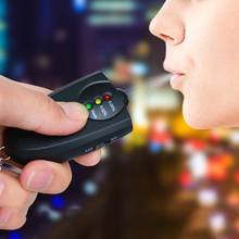 Mini portable alcohol tester Blowing car with digital displa