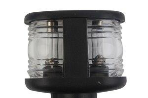Image 4 - 12 V barco marino todo luz redonda LED Masthead luz cálida lámpara de señal blanca con Base ajustable