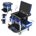 WORKPRO Work Stool with Tool Kits Movable Workbench Tool Set Seat Stand Load Capacity 150kg