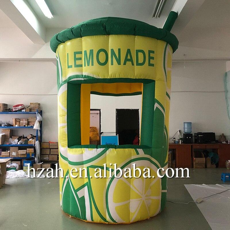 Portable Stand Inflatable Lemonade Booth Inflatable Lemon Juice Kiosk Shop
