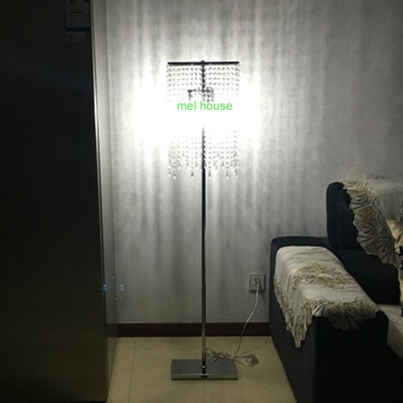 <font><b>Led</b></font> хрустальный пол огни современный кристалл торшер люстры напольная подставка светильник cristal серебряные канделябры торшер