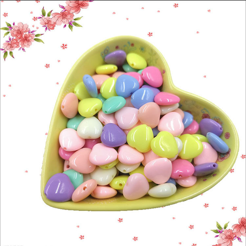 50pcs Love Beads DIY Toy Children Girl Gift Weaving Necklace Bracelet Creative Handmade Jewelry Making Beaded Crafts Toys