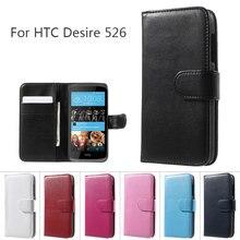 Smartphone de Couverture De Sac pour HTC Desire 526 Portefeuille En Cuir Cas de Stand pour Htc Desire 526/526G + Double SIM