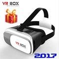 """2017 VR Коробка 2.0 Google картон Виртуальная Реальность 3D Очки vr гарнитура для iPhone Xiaomi Samsung Huawei все 4.7-6.0 """"смартфон"""