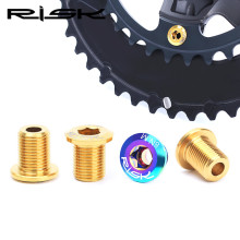 RISK Road Bike Crankset Bolts Titanium M8*10 mm Bicycle Chain Wheel Bolts For SHIMANO ULTEGRA / DURA-ACE Crabkset 4 Piece / Lot цена 2017