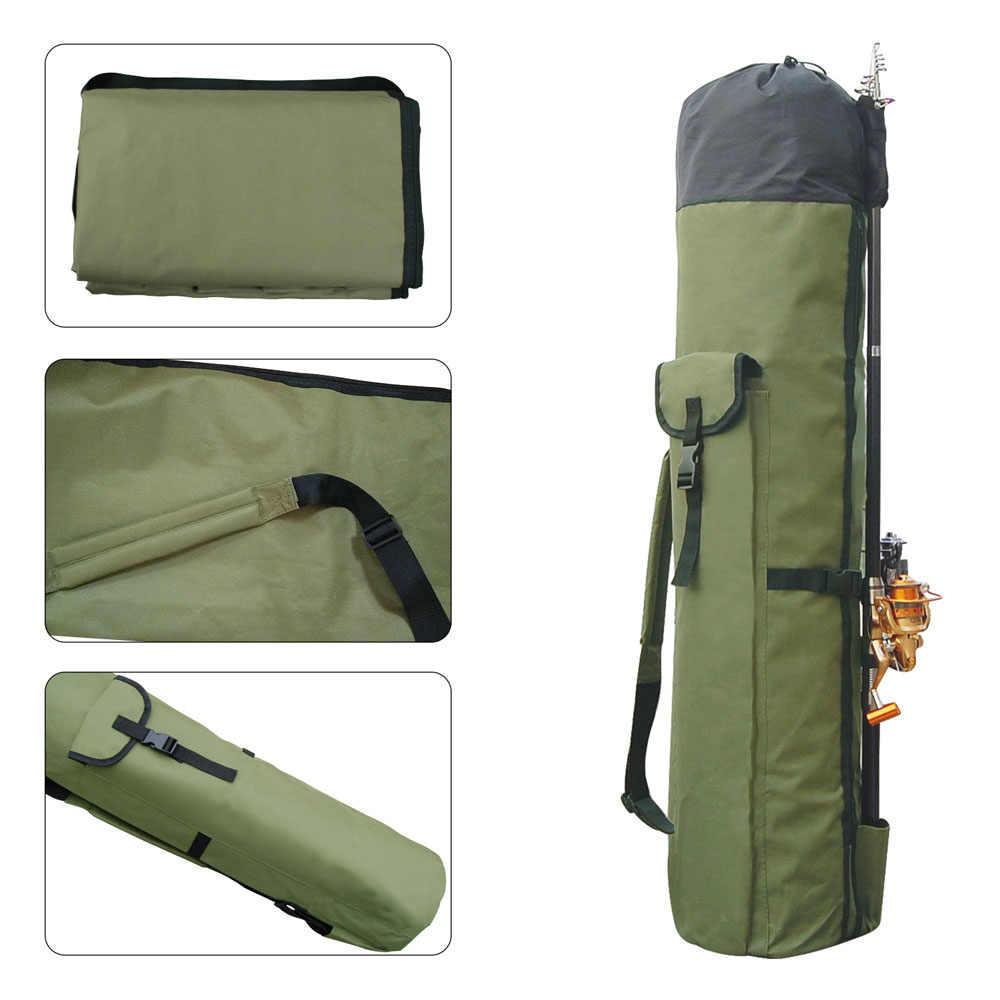 Sacs de pêche en Nylon multifonctions portables pour pêche à l'ombre sac de canne à pêche sac de rangement pour outils de pêche