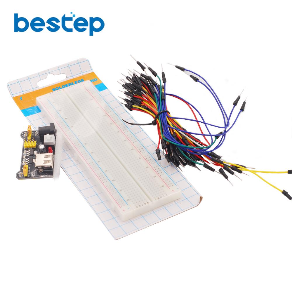 33v 5v Mb102 Breadboard Power Module 830 Points Solderless Catalog Prototyping Wiring Kits Prototype Bread Board Kit 65 Flexible Jumper Wires In Integrated Circuits From