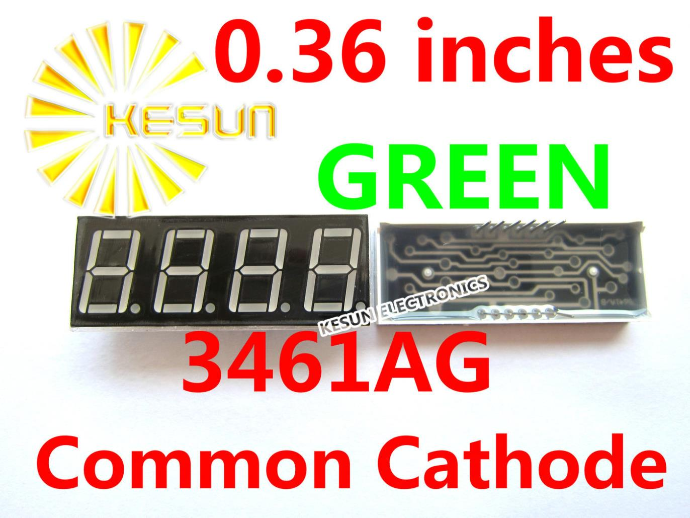 50PCS X 0.36 Inches Green Red Blue Jade Green Common Cathode/Anode 4 Digital Tube  3461AG 3461AGG 3461AB LED Display Module