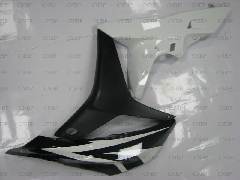 CBR 600 RR 2007 Kits de carénage CBR 600 RR 2007 2008 Kits de carrosserie noir blanc CBR 600 RR 07 carénage Abs - 2