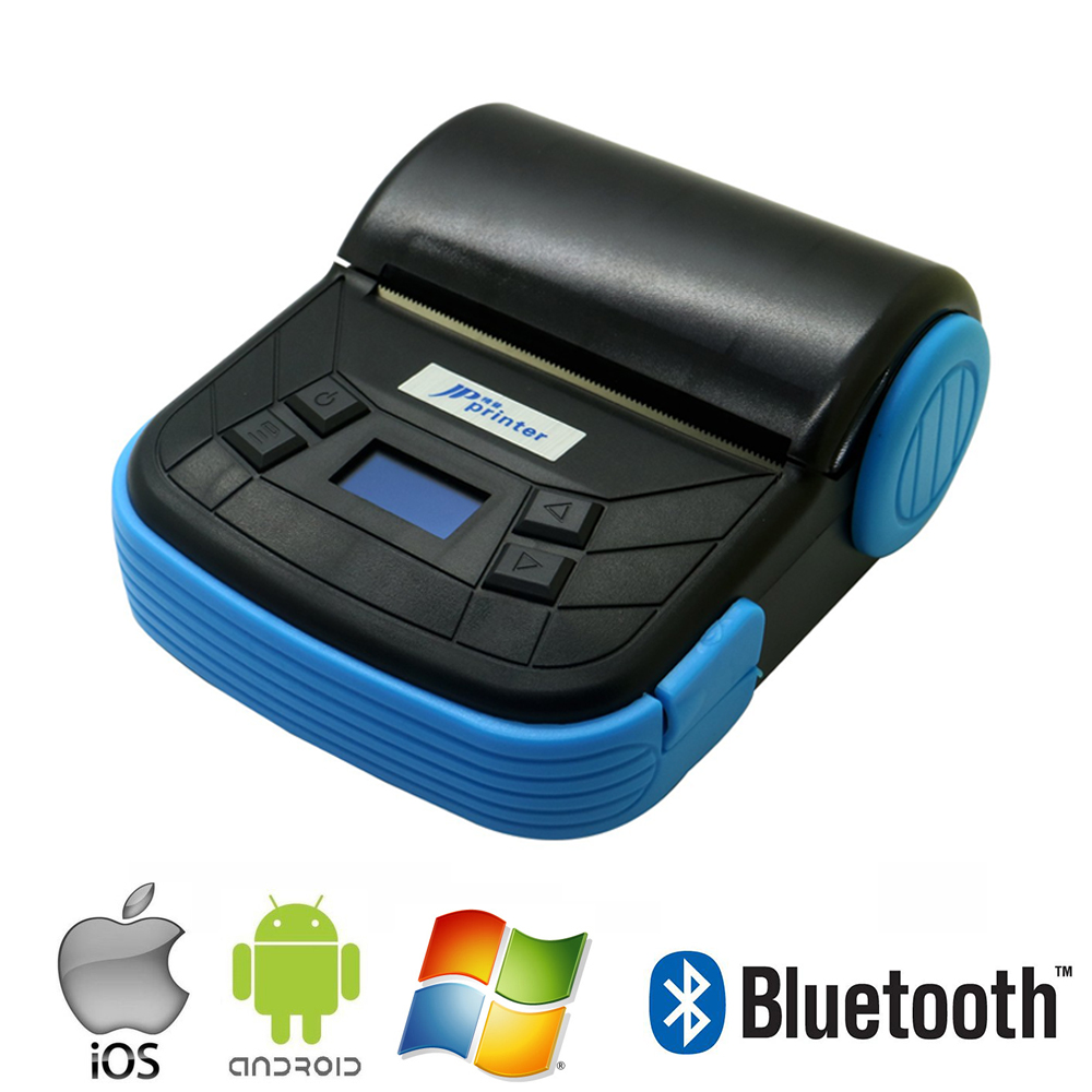 Portable 80mm BluetoothThermal POS Receipt Printer for Apple IOS & Android Mobile and Windows Printer goojprt mtp 3 portable 80mm bluetooth thermal printer exquisite lightweight design eu plug support android pos multi language